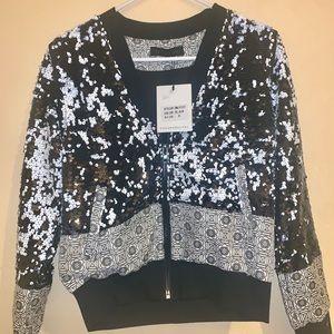 Dance &Marvel Black And White Sequin Jacket